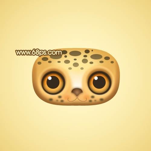 Photoshop制作可爱的花豹头像