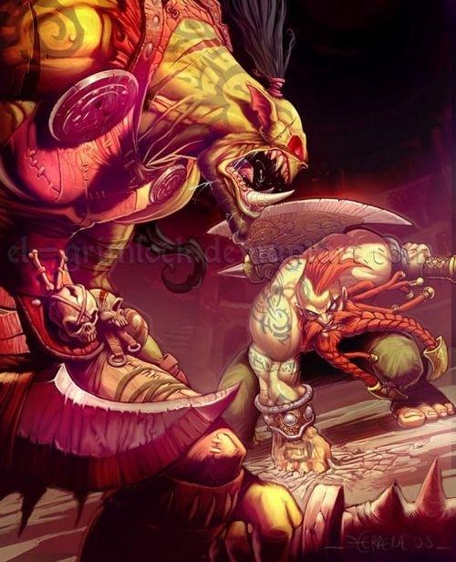 魔兽世界兽人战士CG作品欣赏
