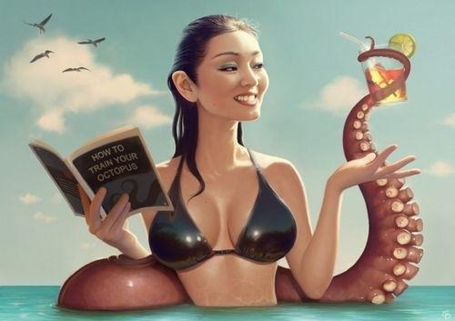 来自Serge Birault的女性火辣插画欣赏
