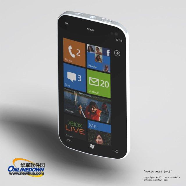 诺基亚Windows Phone 7手机概念图泄露