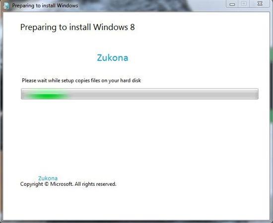 Windows 8升级版安装截图曝光