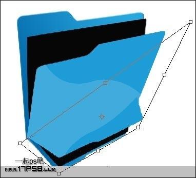 photoshop制作蓝色文件夹图标