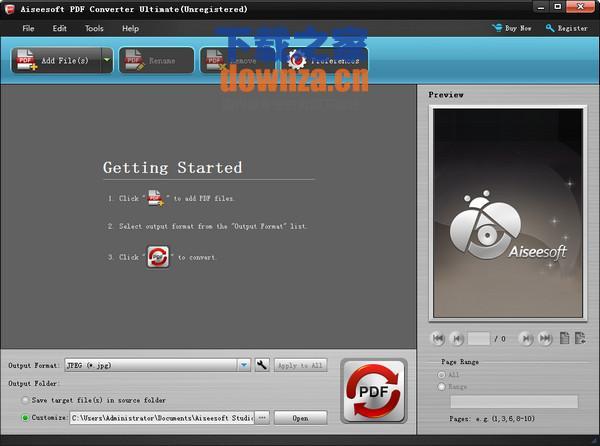 PDF文件转换工具(Aiseesoft PDF Converter)
