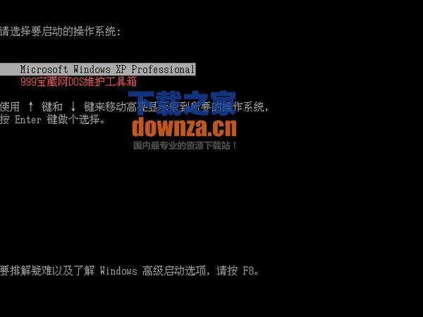 999宝藏网DOS维护工具箱