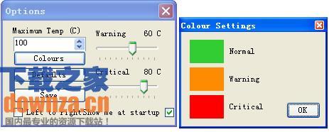 电脑温度检测工具Temperature Taskbar