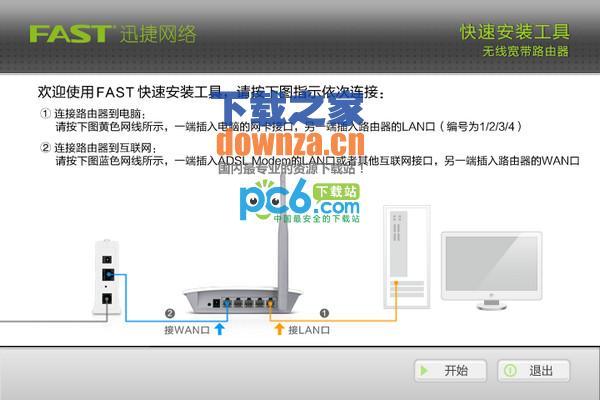 迅捷fast无线路由器快速安装工具