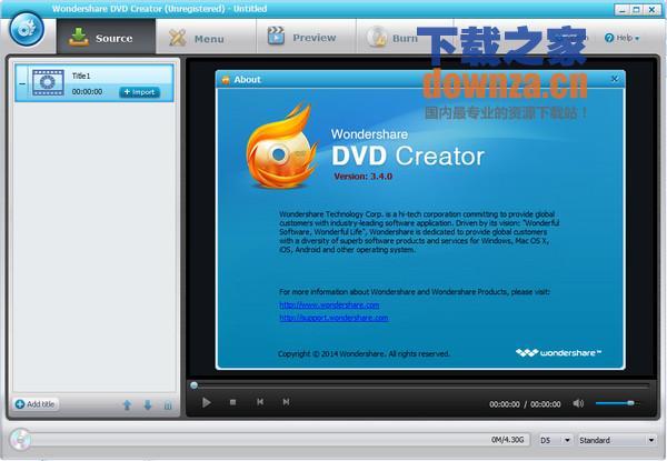 DVD光盘制作软件(Wondershare DVD Creator)