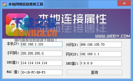 本地网络信息IP查询工具