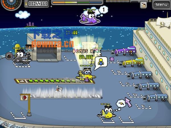 这款游戏画面非常可爱,指挥 q 版的飞机,经营整个机场.