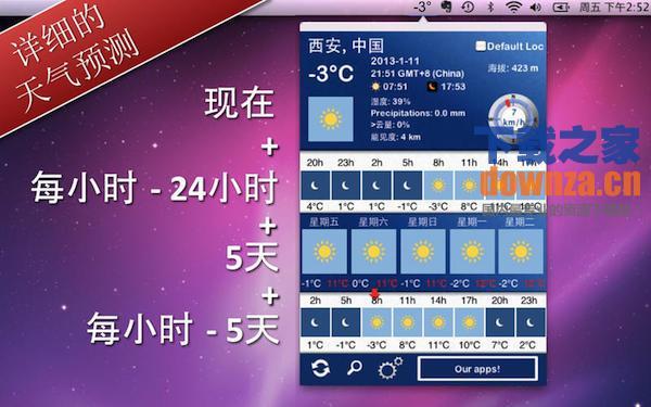 5天内的天气 Mac版截图
