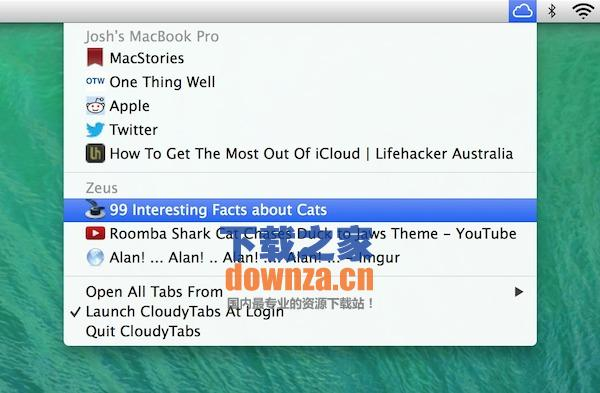 CloudyTabs for Mac