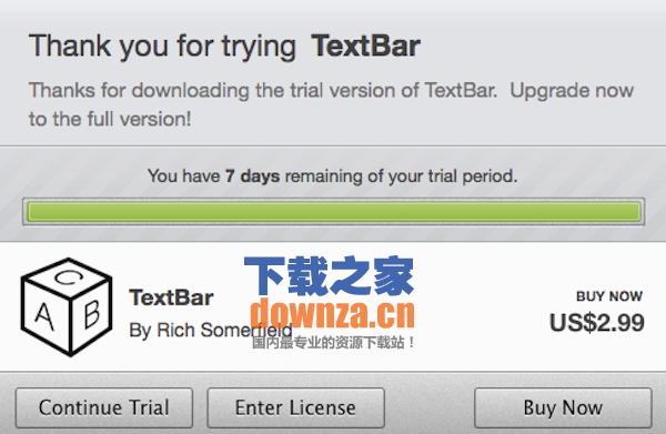 TextBar for mac