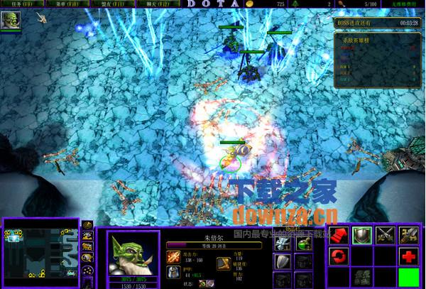 黑暗之夜无CD无限蓝(防守地图)
