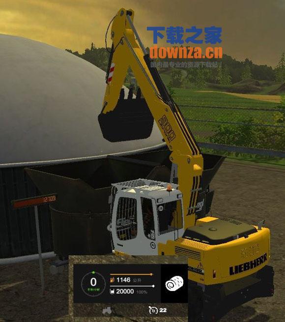 模拟农场15利勃海尔900C挖掘机MOD