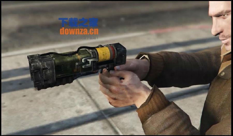 GTA5辐射4镭射枪MOD