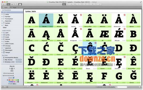 Glyphs Mac版截图