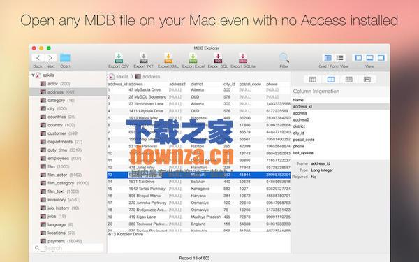 MDB Explorer for mac