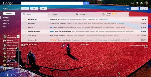 谷歌:Gmail将新增更多的主题和表情