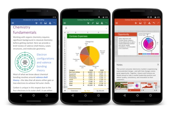 微软正式发布Android版Office软件 免费下载地址