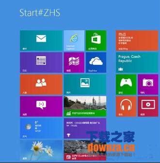 Win8开机进入开始屏幕界面为什么会显示Start#ZHS?