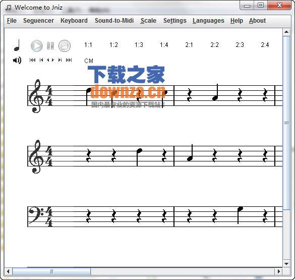 五线谱软件welcome to jniz