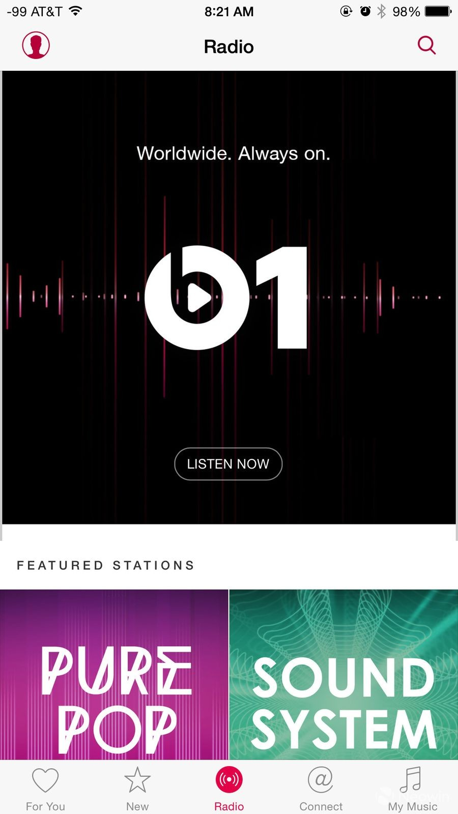 Apple Music以及Beats 1 Radio界面体验