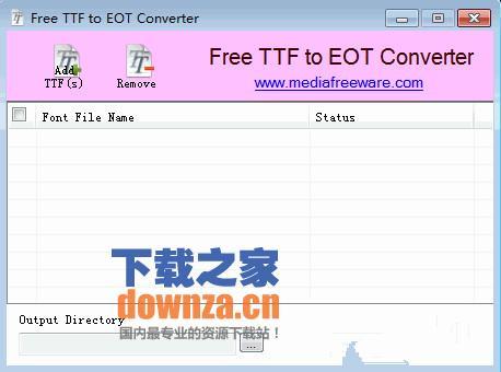TTF转换为EOT格式(Free TTF to EOT Converter)