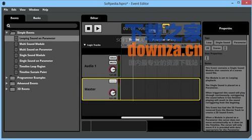 声音工作室FMOD Studio是一个全面和实用的实用程序,其目的是创建复杂和专业的声音和游戏音乐或其他类型的应用程序。其主要目的是为了帮助您创建多轨的声音效果和互动式的音乐,没有所需的编程技能。 FMOD Studio是一个全面而实用的工具,旨在创建复杂和专业的声音和音乐,游戏或其他类型的应用程序。其主要目的是帮助您创建多轨声音效果和音乐互动,无需任何编程技能。