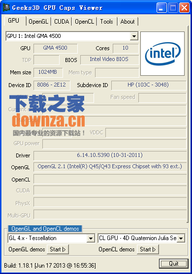 GPU Caps Viewer (显卡诊断/识别工具)