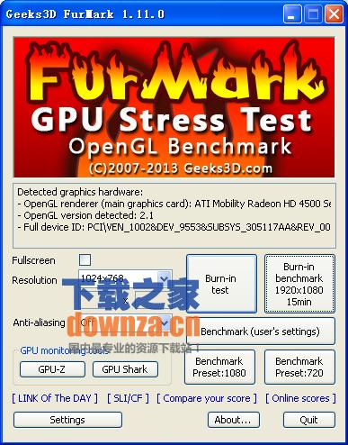 Furmark(显卡烤机软件)