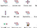 动态版圣诞老人鼠标指针