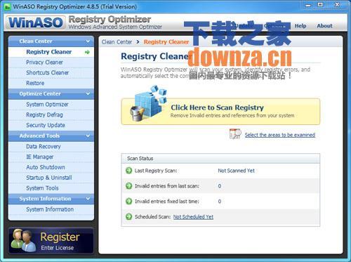 注册表清理修复工具 WinASO Registry Optimizer
