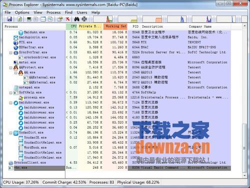 Process Explorer  (增强任务管理器、可以终止任何进程)