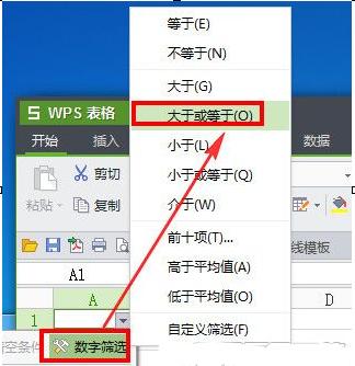 wps表格筛选数据如何操作?