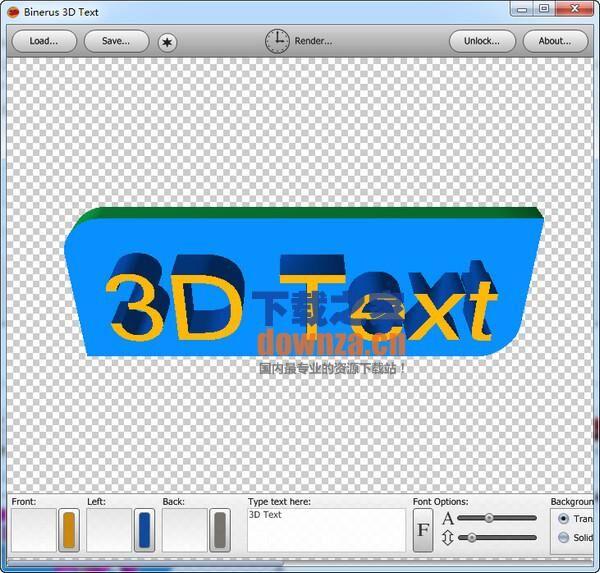 3D图标制作软件(binerus 3D Text)